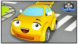 Racing Car Police Chase w Tow Truck Street Vehicles in New Cartoons for children