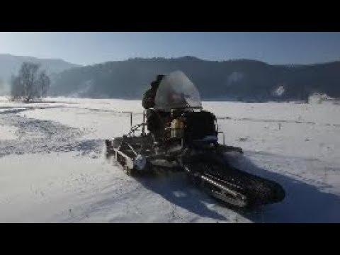 Полноприводный снегоход с ведущей лыжей. Такого ты еще не видел!