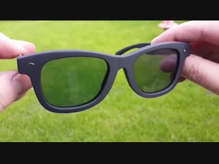 Lcd sunglasses with vintage frame lcd-03