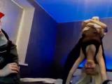 Анастасия Любимова набухалась и устроила новогодний разврат с двумя мужиками blondruls Milana smotri.com