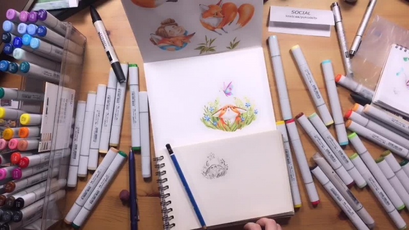 Drawing foxes pt.9 drawing cute cartoon fox illustration copic markers artwork characterdesign kidlitart
