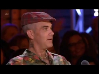 THE X FACTOR 2018 AUDITIONS - ANDY HOFTEN WITH ROBBIE WILLIAMS