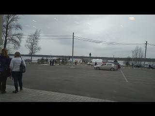 Вертолёт на пристани в Шлиссельбурге