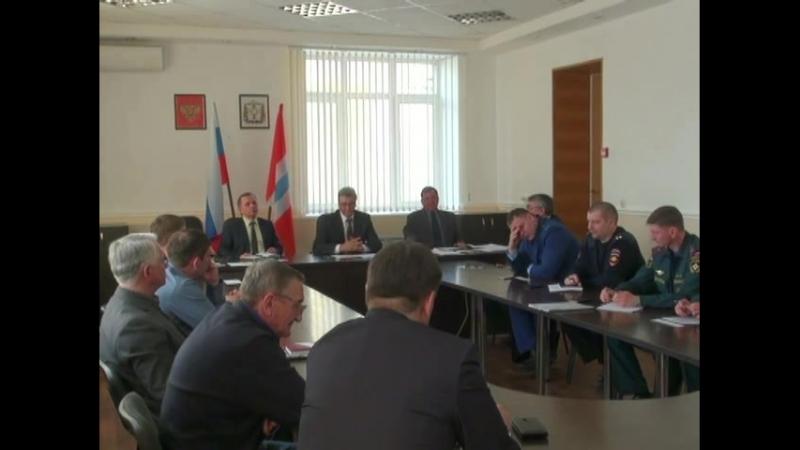 В Калачинске состоялось очередное заседание комиссии по чрезвычайным ситуациям.