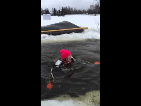 2014 Swedish ICE HOLE BATH SWIMMING Isvaksbad