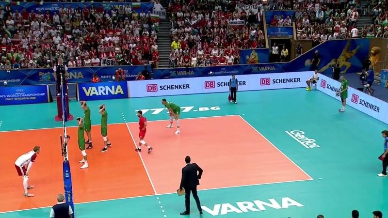 18.09.2018. 20:25 - Волейбол. Чемпионат мира. Мужчины. 5 тур. Группа D. Болгария - Польша