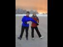 Видео нашего танца только сильно стемнело и нас почити не видно