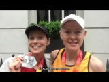 Катрина Балф с сестрой после Лондонского марафона rus sub