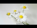 DIY How to make Paper Chamomile daisy flower from crepe paper Cúc La Mã giấy nhún