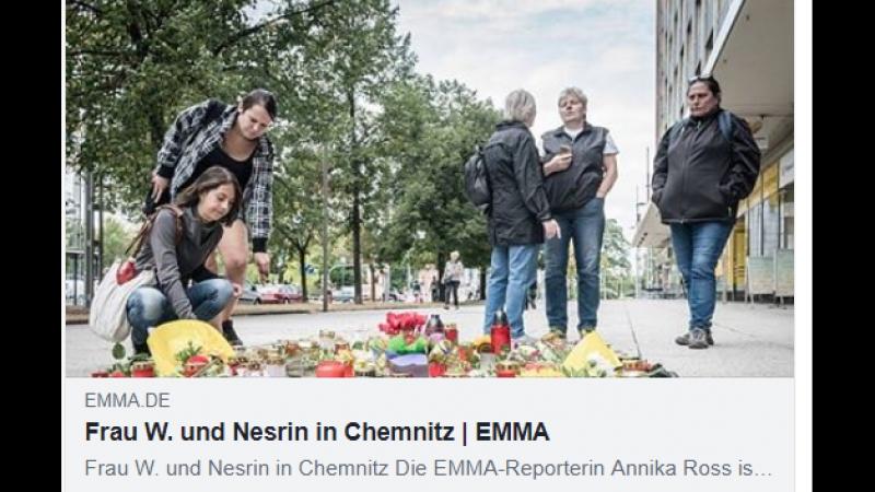 Frau W. und Nesrin in Chemnitz. EMMA