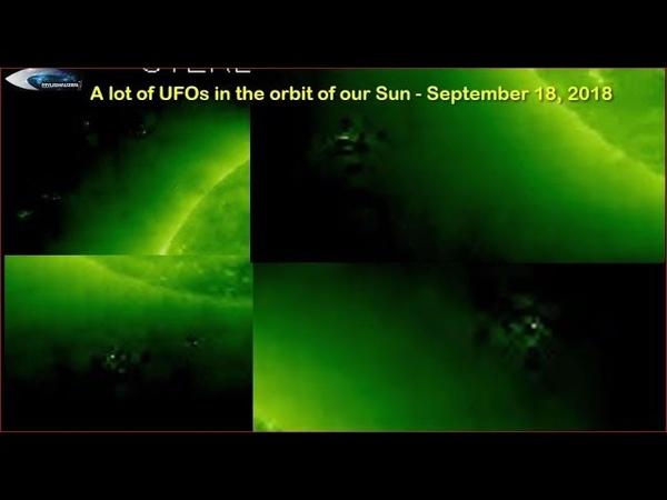 Множество НЛО на орбите нашего Солнца - 18 сентября 2018