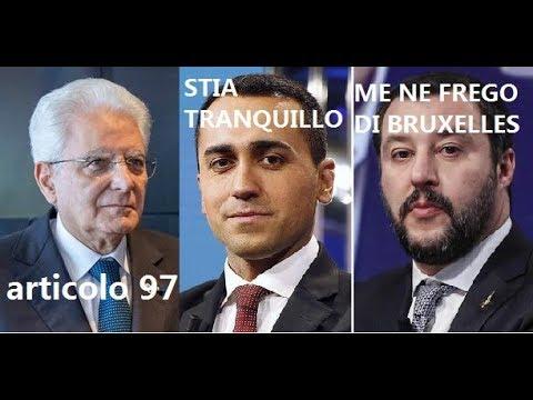 SALVINIE DI MAIO: PRESIDENTE, STIA TRANQUILLO SALVINI:ME NE FREGO DI BRUXELLES