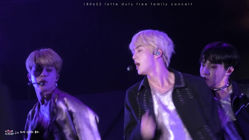 [4K] 180622 lotte family duty free family concert - Airplane Part.2 JIN FOCUS