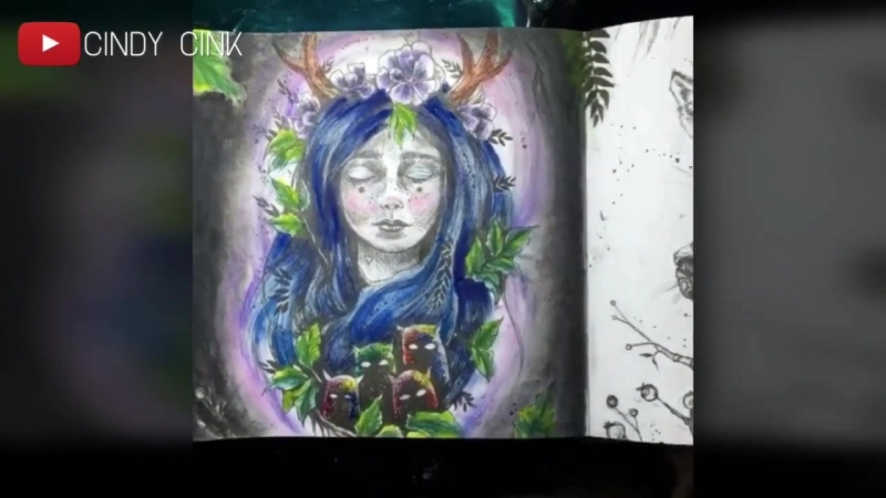Coloring with Mungyo Gallery Soft Pastel 😁 Po Drugiej Stronie Snu by Karolina Kubikowska