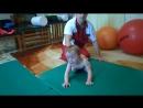 Первые занятия Бобат-терапией в г.Новозыбков.Полина учится ползать