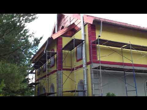 Яркие цвета на фасаде дома грунтуем основание крашенной грунтовкой Ceresit CT 16