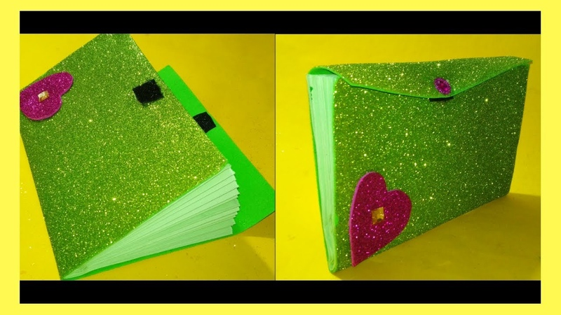 Craft paper and Foam sheet idea..DIY Make A Wallet