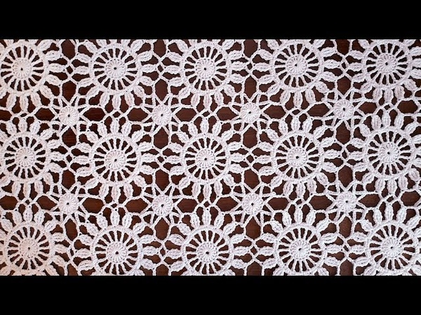 Crochet easy Motif for shawl Part 3 How to join motifs