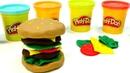 Hamburguesa de Play Doh plastilina. Vídeos para niños.