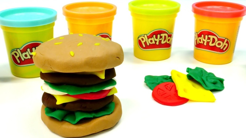 Hamburguesa de Play Doh plastilina Vídeos para niños