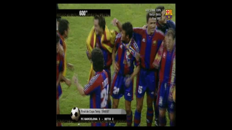 Resumen FC Barcelona vs Betis 3-2 - Final Copa del Rey 1997 - HD