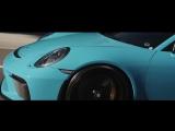 Porsche 991.2 GT3 _ Miami Blue by TAG Motorsports _ Vossen Forged GNS-1 Wheels
