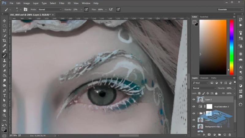 Photoshop (Фотошоп). Делаем фотоарт для зимнего портрета. Часть №1. (Марина Эл)