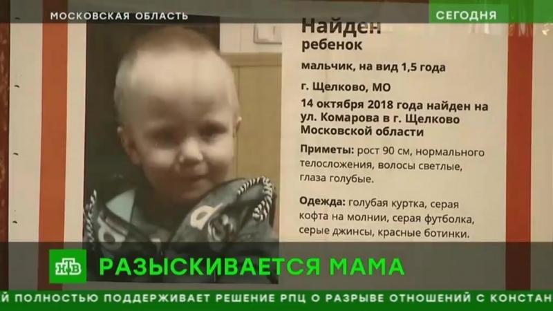 Полиция и волонтеры ищут родных найденного в Подмосковье мальчика