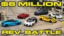 $6 Million Rev Battle - Bugatti Chiron, Ford GT, McLaren 720S, Lamborghini Urus, Ferrari Speciale