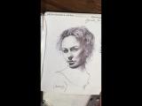 Стрим «портрет» шариковой ручкой By Galina Ershova