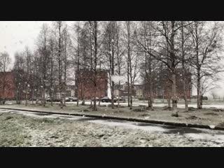 Первый снег в Северодвинске