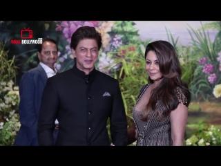 Shahrukh Khan With Wife Gauri Khan At Sonam Kapoors GRAND Wedding Party