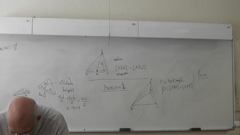 86. Медианы режут треугольник на равновеликие.