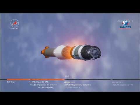 (4) Lancement de la fusée Soyouz-FG avec le Soyouz MS-08 TPK - YouTube