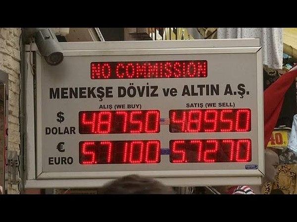 Рекордное падение турецкой лиры