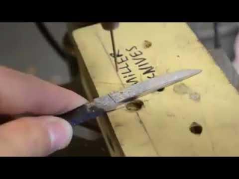 Tüfek mermisinden çakı bıçak nasıl yapılır