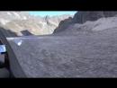 Гонки на планере по леднику. Игорь Волков.