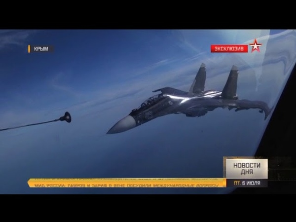 Дозаправка в крымском небе: кадры из воздушного танкера Ил-78