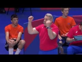 Russia @VolleyRus coach Sergei Shliapnikov very happy - гл. тренер по Волейболу Сергей Шляпников
