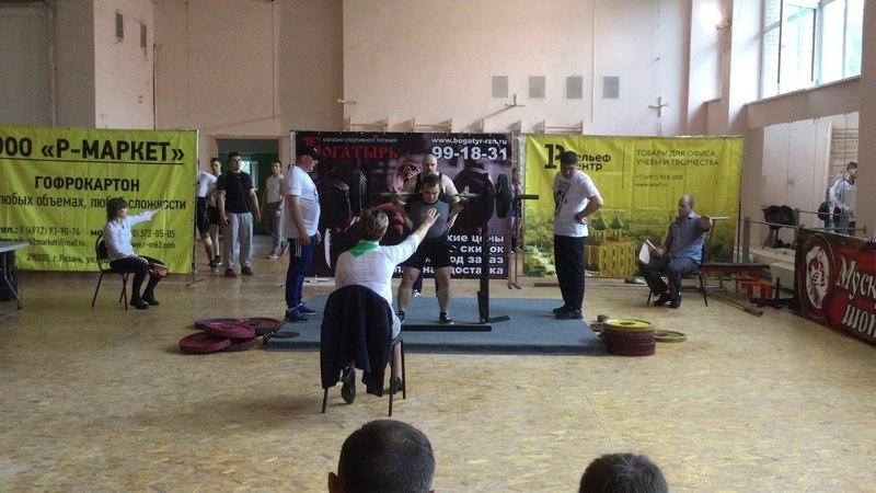 Приседания со штангой на плечах 150 кг (Squats 331 lbs)