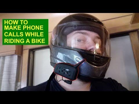Motorcycle Bluetooth Intercom Headset 1200M Full Duplex Two Way Audio Interphone Motorbike Helmet Bl