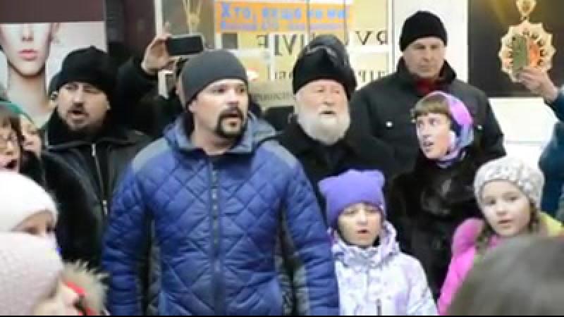 Рождественский флешмоб в Золотоноше