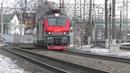 Электровоз ЭП20 022 с поездом № 013 Москва Берлин