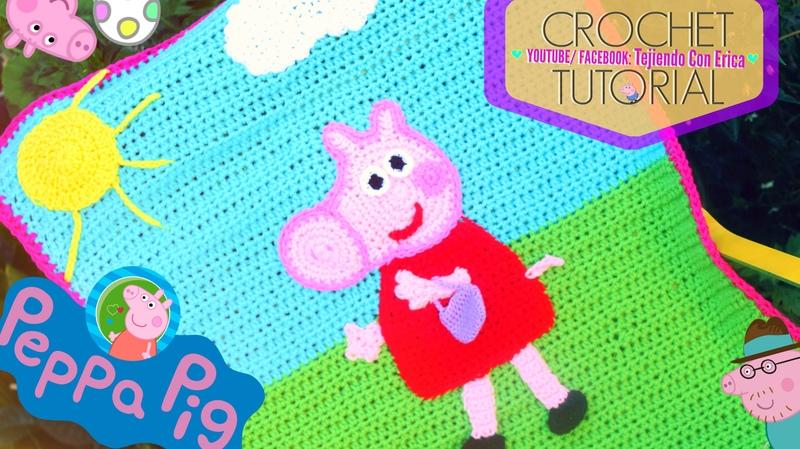 PEPPA PIG Cobija Crochet Tutorial | Tejiendo Con Erica