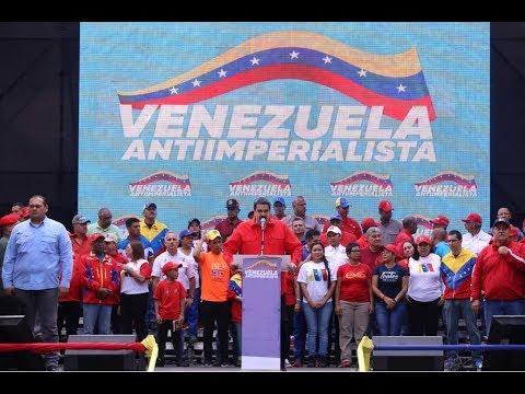 Presidente Maduro Recibe Gran Marcha Antiimperialista en Miraflores