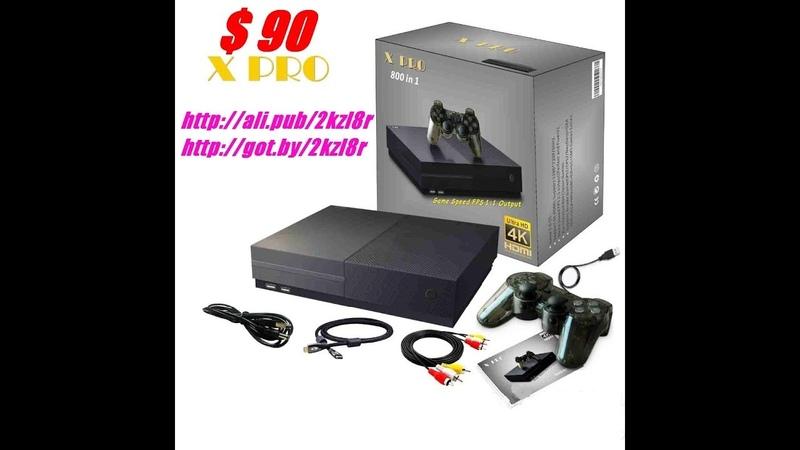 X PRO HD Видео Игровая консоль 64 бит 4 К 800 видео игр 2018