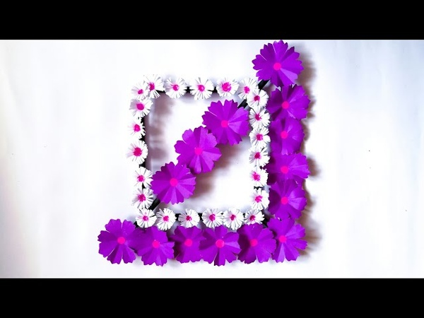 Diy paper flower wall hanging Simple and beautiful wall hanging Wall decoration by KovaiCraft 11