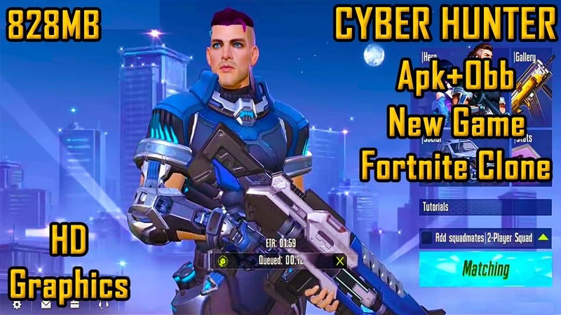 Cyber Hunter Apk Obb Download Highly Compressed Android / IOS Gameplay | Fortnite Clone