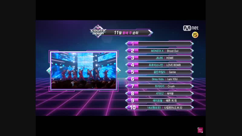 [VK][181111] What are the TOP10 Songs in 2nd week of November ep.595 @ M!Countdown