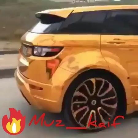 "@muz_kaif on Instagram ""Range rover  rangerover gold top 2018 cars car supercars musica muz monsters  muz_kaif"""